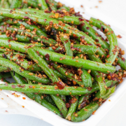 H12. Pan Fried Green Beans with Minced Pork