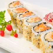 Spicy Crunch Salmon Roll (8 pcs)