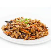 A21. Shredded Pork in Chili & Sour Garlic Sauce