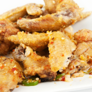 30. Deep Fried Chicken Wings with Spicy Salt and Chili