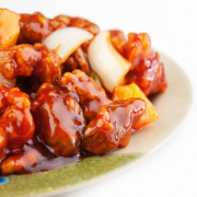 128. Sweet-and-Sour Pork with Pineapple