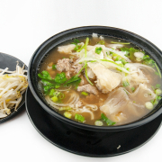 1. Rice Noodles and Sliced Rare Beef in Soup - Pho Tai