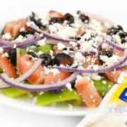 Greek Salad with Garlic Toast