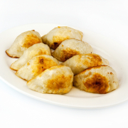 3. Pan-Fried Dumplings (10 pcs)