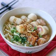 Shanghai Style Pan Fried Noodles (Soup) 上海粗炒面(汤面)