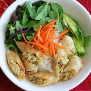Vermicelli and Two Spring Rolls