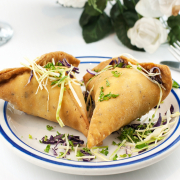 2. Veggie Samosas (2 Pieces)