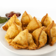 Mirchi Smoking Samosas (2 pieces)