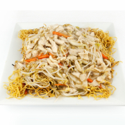 76. Shredded Chicken Chow Mein with Bean Sprouts