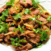F03. Stir Fried Lamb with Cumin