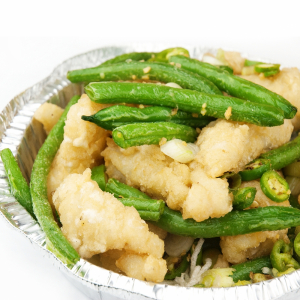 50. Stir-Fried Squid with Vegetables in Satay Sauce