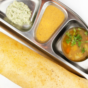 Mixed Seafood and Mixed Vegetable Dosa