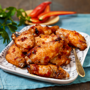 36. Chicken Wings with Red Pepper