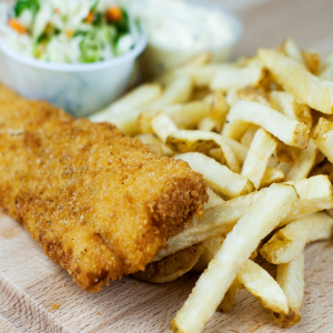 156. Fried Fish with Fries