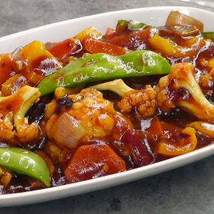 86. Mixed Vegetables with Hot Garlic Sauce