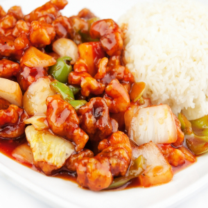 104. Sweet & Sour Pork on Rice