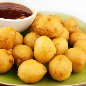 120. Deep-Fried Chicken Balls with Sweet-and-Sour Sauce