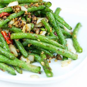 Sauteed Green Beans and Olives with Minced Meat - Cam Lam Thit Bam Xao Dau Xanh