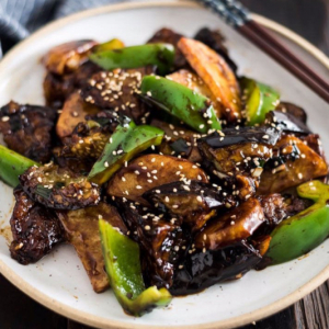 Fried Eggplant with Sweet Pepper & Potato 地三鲜