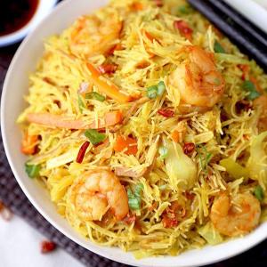 Pan Fried Handmade Noodles with XO Seafood XO海鲜抄手(挂面/拉面)