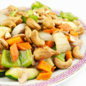 Stir-Fried Cashew Nuts with Cubed Vegetables 腰果炒蔬菜