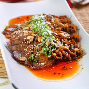 Sliced Beef and Tripe with Spicy Sauce 夫妻肺片