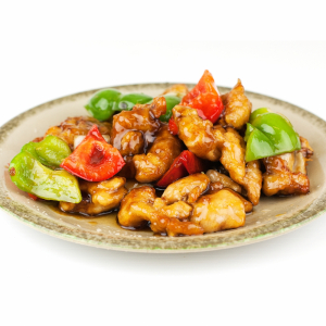 42. Honey Garlic Boneless Chicken