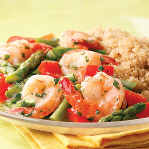 Prawns with Almonds and Vegetables