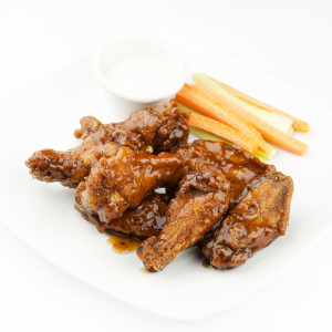 Fried Chicken Wings with Honey & Garlic