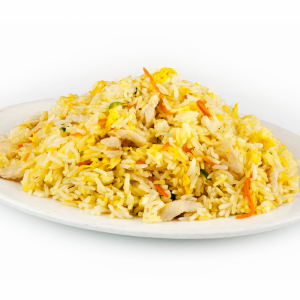120. Curried Fried Rice with Pineapple & Shredded Chicken