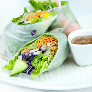 67. Rice With Spring Rolls (2)