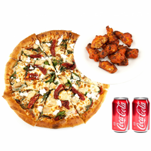 X-Large Pizza with Wings