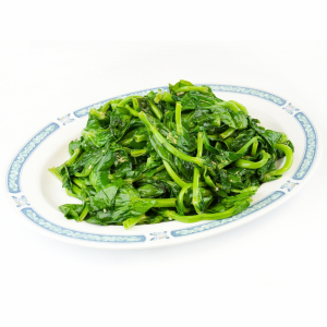 Sauteed Snow Pea Tips with Garlic Sauce - Toi Xao Tau Mieu