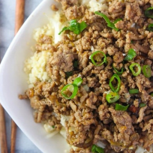 117. Minced Beef & Lettuce Fried Rice