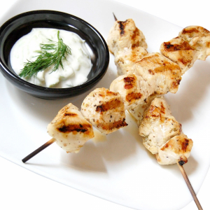 Lunch Sized Chicken Souvlaki