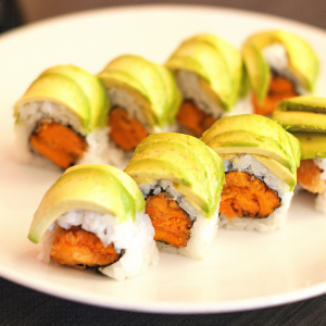 Vegetable Rolled Sushi & Hand Cones