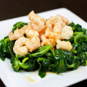 Prawns with Chinese Broccoli
