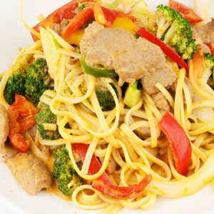 86. Red Curry Pasta (Gaeng Pad Thai)