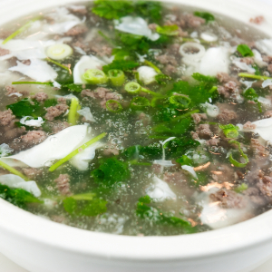 Minced Beef and Egg Swirl Soup
