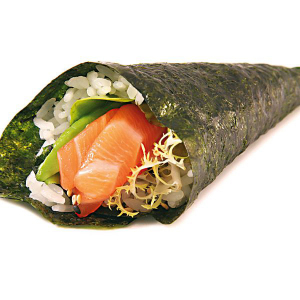H12. Salmon Avocado Hand Roll (1 pc)