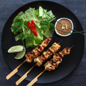 Chicken with Green Peppers and Satay Sauce