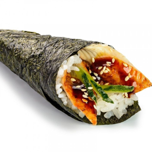 H10. BBQ Eel Hand Roll (1 pc)
