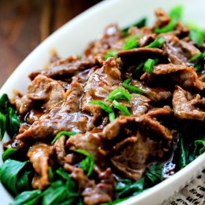 Beef with Chinese Gai Lan