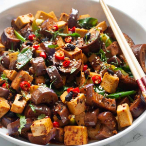 81. Bean Curd & Eggplant with Chilli & Garlic Sauce
