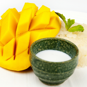 Mango Sticky Rice with Coconut Milk