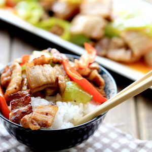 25. Sliced Chicken, Prawn, Pepper & Onion in Chili Sauce