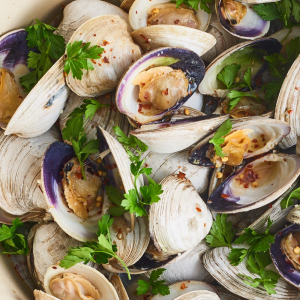 10. Clams with Golden Garlic, Dried Shrimp & Chili