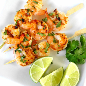 28. Shrimp on Skewers (3pcs)