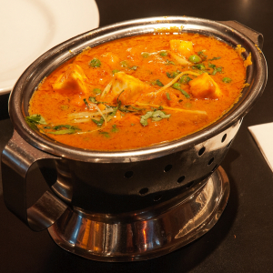 13. Mattar Paneer with Indian Cheese