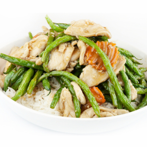 38. Sliced Chicken w/Green Bean in Black Bean Sauce